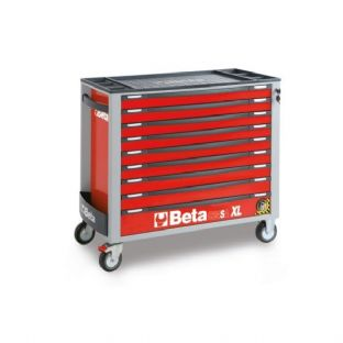 Beta C24SAXL/9-R Mobile Roller Cab With 9 Drawers (Red)